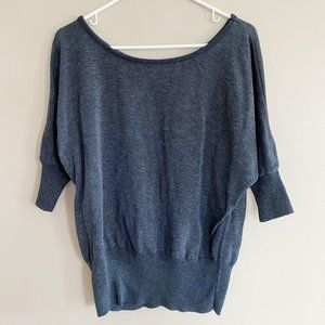 Mossimo gray 1/2 dolman sleeve sweater sz XL